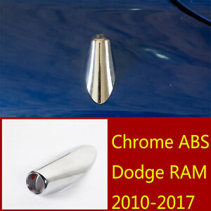Chrome Abs Antenna Adapter Mount Mounting Base Accessories For Dodge Ram 2010 17