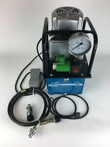 Temco Hp0006 Electric Hydraulic Pump 2 Stage Single Acting 110v 10kpsi 488in3