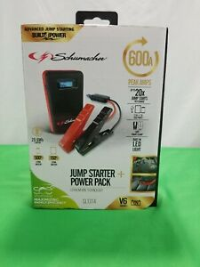 Schumacher Electric Sl1314 600 Peak Amps Lithium Ion Jump Starter Power Pack New