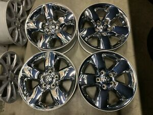 Four 2013 2018 Dodge Ram 1500 Factory 20 Chrome Clad Wheels Rims Oem 2495c