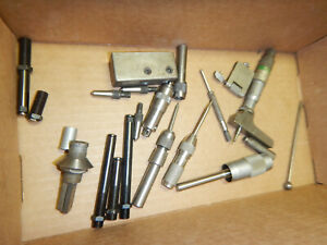 Pile Of Machinist Tooling Parts And Pieces Lufkin Depth Mic Wiggler Parts