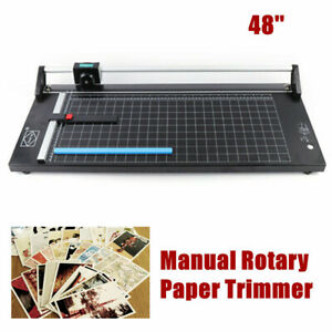 48 Inch 1300mm Manual Precision Rotary Paper Trimmer Sharp Photo Paper Cutter