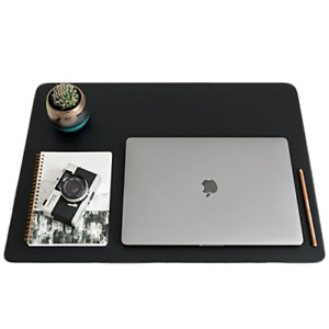 Zbrands Leather Smooth Desk Mat Pad Blotter Protector 24 X 17 Midnight Pad