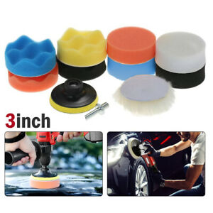 Car Buffing Pads Polishing Sponge Set Waxing Foam Bonnet Polisher Kit For Drill