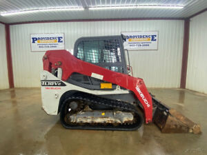2017 Takeuchi Tl10v2 Cab Track Skid Steer Loader With A c And Heat