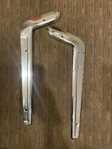 1965 1966 Ford Mustang Seat Side Molding Pair 2 Pieces Stainless Steel Used