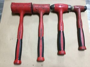 Snap On 4 Piece Soft Grip Dead Blow Hammer Set Hbfe56 Hbfe48 Hbbd32 And Hbpt16