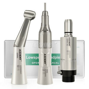 Dental Low Speed Handpiece Kit Contra Angle Straight Air Motor Nsk Style Azdent