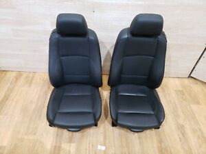 08 13 Oem Bmw E82 Coupe Black Boston Leather Left Right Front Seats Pair