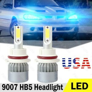 2x 9007 Hb5 Led Headlight Bulbs 8000k Light For Pontiac Grand Am 1999 2005