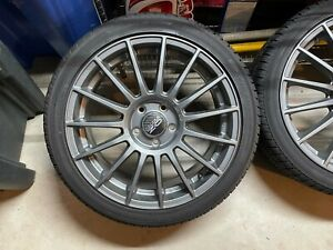Oz Super Lm Matte Graphine 18 Wheels With Tires
