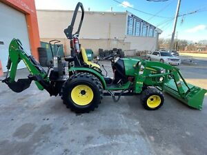 2016 John Deere 2032 R 4x4 Backhoe Front Loader Fully Serviced Low Hours