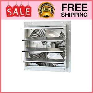 16 Shutter Exhaust Fan 1200 Cfm Industrial Speed Wall Mount Garage Shop Attic