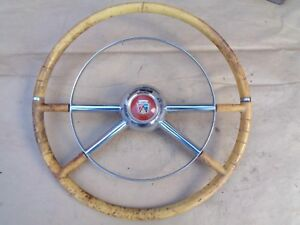 1954 Ford Deluxe Steering Wheel W Horn Ring Original Accessory