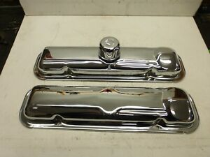 New Factory Style 66 Pontiac Gto 389 Chrome Valve Covers With Ac Breather