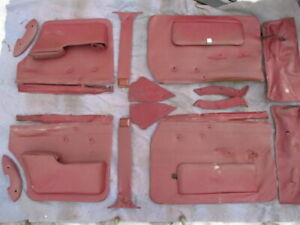 Original Jaguar 3 8s 420 S Type Red Door Panels Good Condition