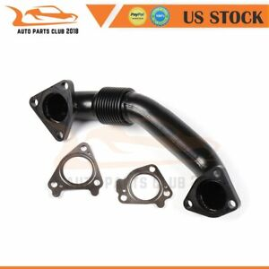 For Lb7 Lly Duramax Black Stainless Passenger Side Up Pipe W Gaskets