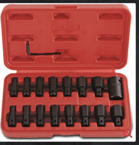 Mac Tools 15pc 1 2 Dr Sae And Metric Impact Hex Insert Driver Set Sva15b