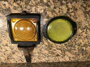 Two Antique Reflectors For Vintage Truck Jeep Or Rat Rod