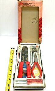 Vintage Sears All Purpose Electrical Repair Kit Crimper Wire Bolt Cutter Tester