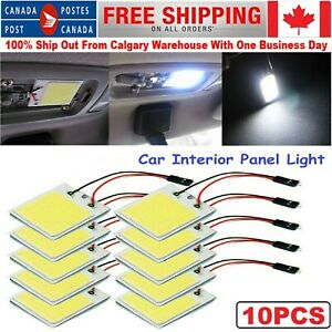 48 Smd White Panel Led Car Interior Panel Light Dome Lamp Bulb Plate Light 10pcs
