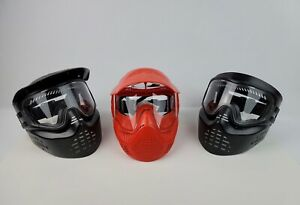 Lot 3 Paintball Airsoft Helmets Mask Black amp; Red Valker Adult size preowned $49.99