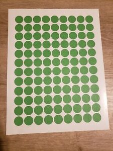 108 Green Removable Blank Garage Yard Sale Stickers Labels Tags Sale