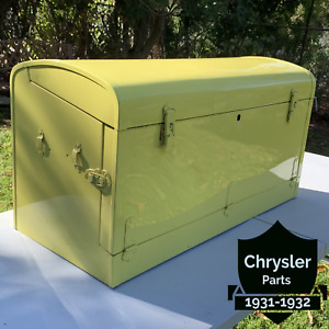 Vintagwe Original 1930 1935 Accessory Bi Fold 36 Metal Yellow Auto Trunk
