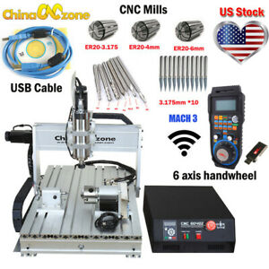2200w Cnc 6040 4axis Router Mach3 Usb Engraving Cutting milling Machine Us Stock