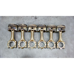 1993 1999 Bmw M50 2 5l 6 Cylinder Piston And Connecting Rod Set Of 6 E34 E36 Oem