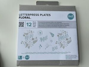 Letterpress Plates Floral We R Memory Keepers Lifestyle Quick Kutz