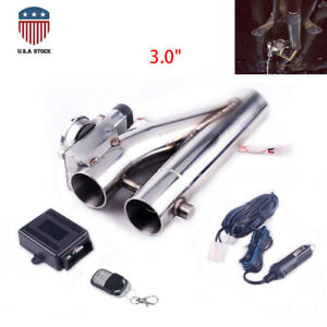 2 5 63mm Exhaust Control E cut Out Dual Valve Electric Y Pipe With Remote Kit Us