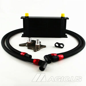 Lr 19 Row Oil Cooler Bracket Hose Kit For Bmw Mini Cooper S R56 Supercharger