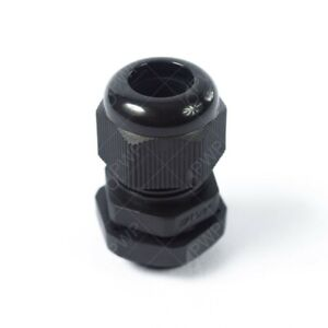 1 4 Npt Black Nylon Cable Glands With Gasket And Lock nut 50 Pack
