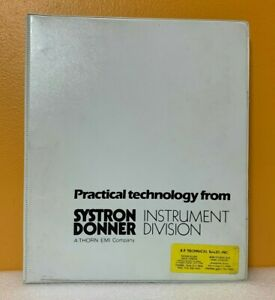 Systron Donner Instrument Division Catalog