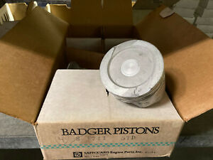 Badger Pistons Standard Piston Ford Car Truck 4 9l 6cyl V8 400 6 6l Nos Usa