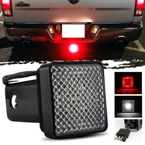Led Towing Hitch Cover Light Running Brake Reverse For Truck Suv W 2 Receiver