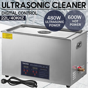 22l Liter Ultrasonic Cleaner Digital Cleaning Equipment Industry Heated W Timer