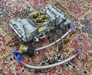 C s 900 Cfm Blow Through Carburetor With Solenoids Fuel Lines Holley 850 Dp