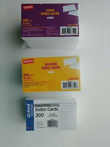 Mixed New Lot Index Cards Staples Oxford Ruled Unruled