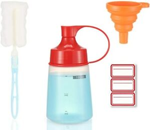 Condiment Squeeze Bottle Wide Mouth 1 Pack 180ml Clear Squeeze Bottles