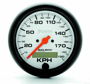 Auto Meter 3 3 8 Phantom Speedo Metric 190kph