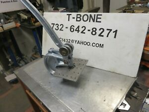 Roper Whitney 16 Punch Press W Gauge Work Table Whitney Bench Punch No 16