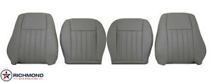 2005 2006 2007 Jeep Liberty driver Passenger Complete Leather Seat Covers Gray