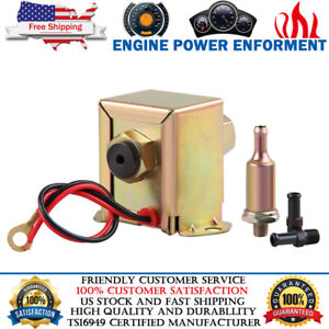12v Universal Electric Fuel Pump Facet Style 4 7 Psi Low Pressure Gas Diesel