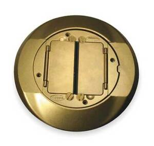 Hubbell Wiring Device kellems S1cfcbrs Floor Box Cover Carpet Flange brass
