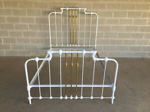 Vintage Cast Iron Victorian Style Double Bed