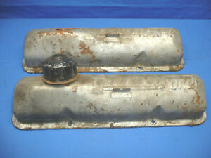 Pair Of Power By Ford Fe 390 428 Valve Covers