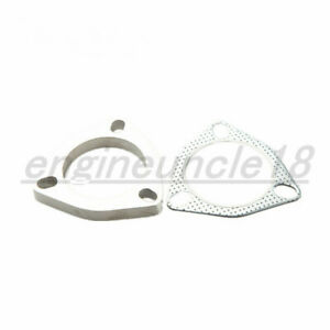 New 2 25 Inch 3 Bolt Stainless Steel Exhaust Flange Exhaust Gasket Set Us