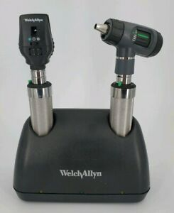New Welch Allyn Nicad Desk Charger Set Macroview Otoscope Ophthalmoscope 71641 m